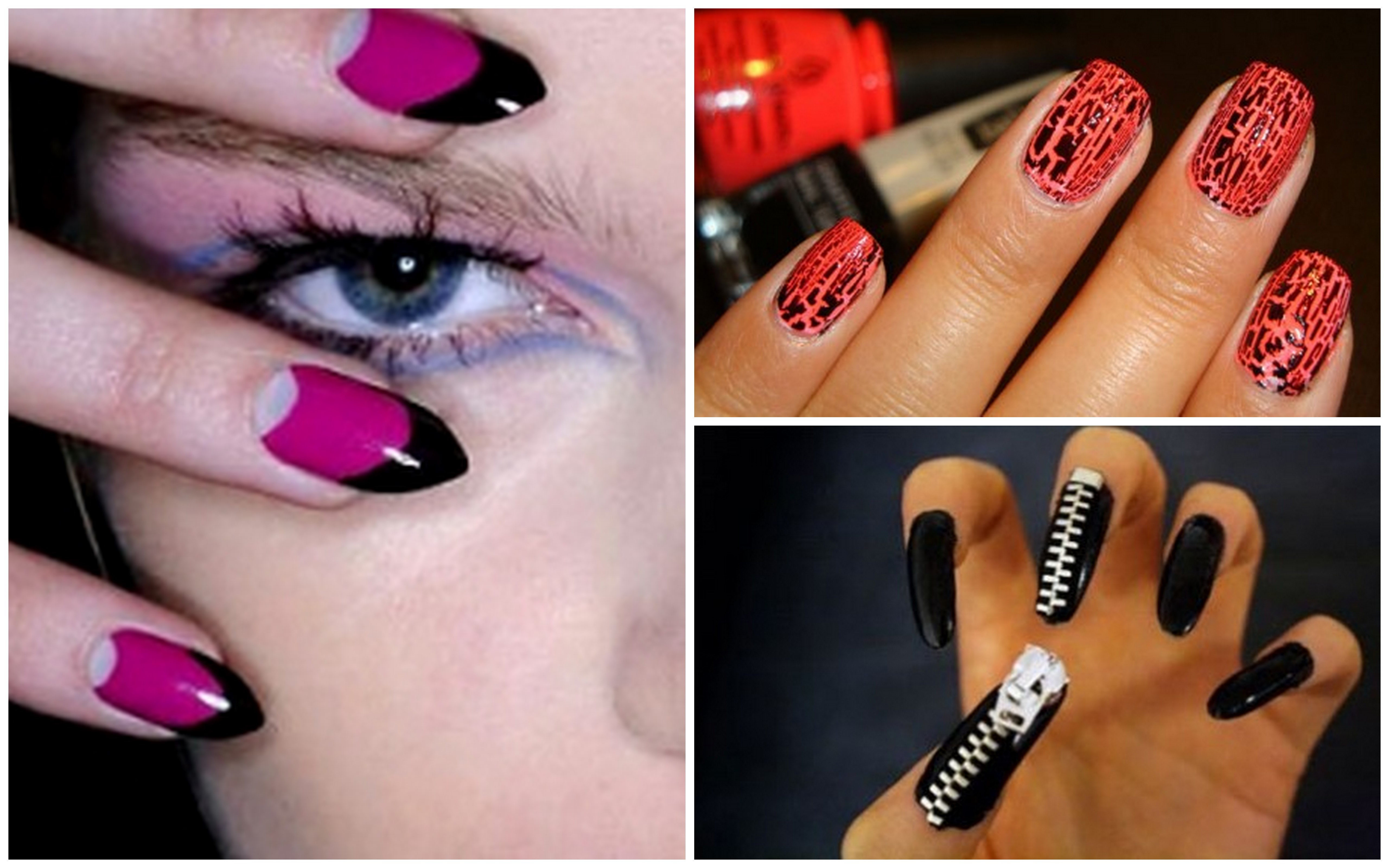 Orange and Black Nail Designs http://fashiontrendalerts.wordpress.com/category/nail-art/